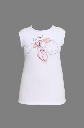 Tişört Ceket İkili Takım 9026-07 Beyaz