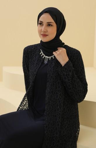 Habillé Hijab Bleu Marine 4288-04