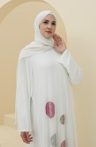 فساتين سهرة بتصميم اسلامي بيج فاتح 6338-02
