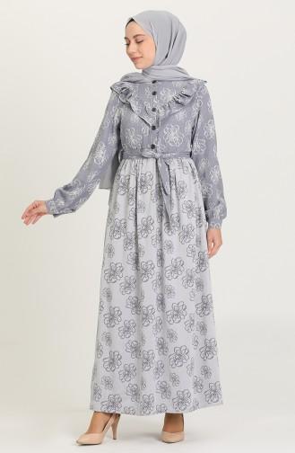 Navy Blue Hijab Dress 21Y8380-05