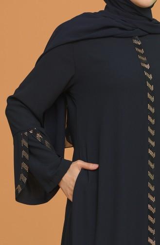 Dunkelblau Abayas 5032-01