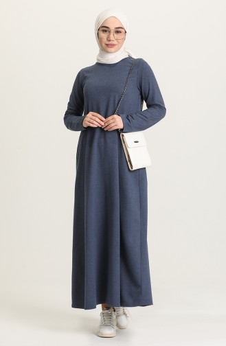 فستان نيلي 3279-14