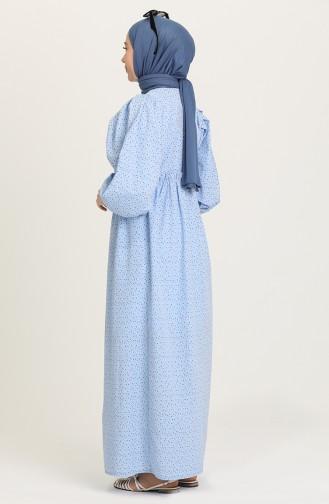 Blue İslamitische Jurk 21Y8323B-01