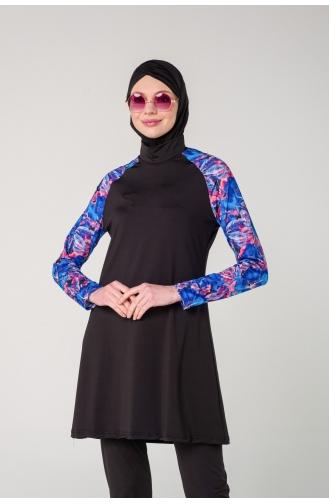 Black Swimsuit Hijab 7111-01
