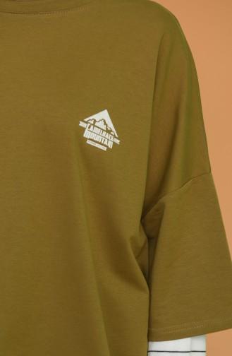 Khaki T-Shirts 1121-02