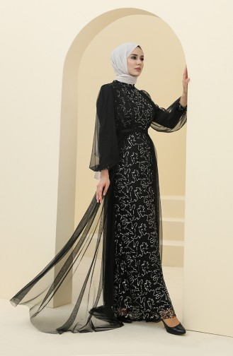 Habillé Hijab Noir 5383-13