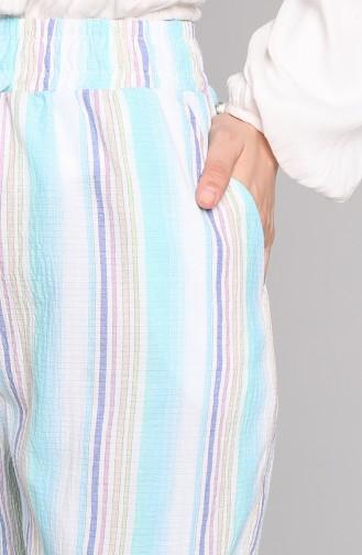 Pantalon Bleu 0153-02