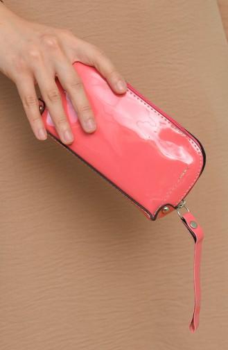 حقيبة يد وردي 1214-216