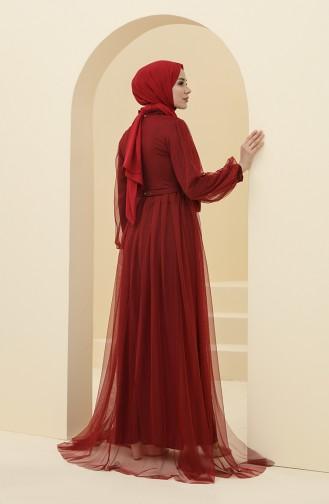 Habillé Hijab Bordeaux 5383-16