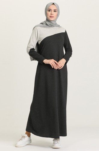 Garnili Spor Elbise 50101-06 Koyu Antrasit