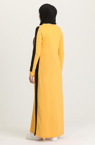 Garnili Cepli Elbise 3262-17 Sarı Siyah