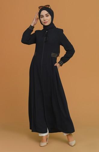 Navy Blue Abaya 5029-02
