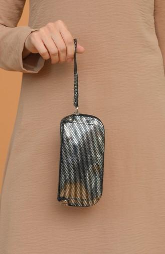 Silbergrau Portfolio Handtasche 1214-202