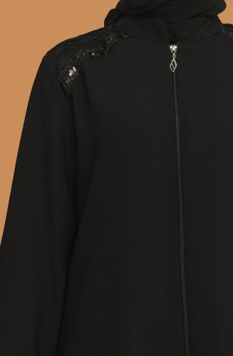 Fermuarlı Krep Ferace 1053A-01 Siyah