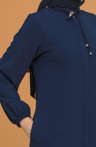 Navy Blue Abaya 1026-01