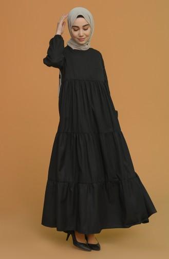 Black Hijab Dress 0712-01