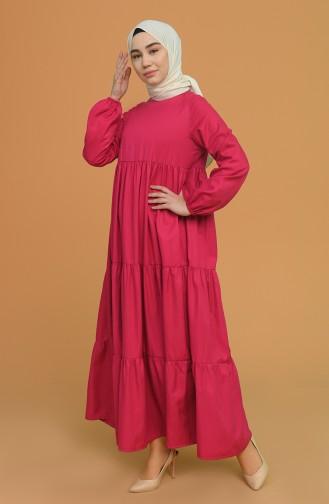Plum Hijab Dress 0712-03