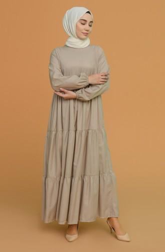 Mink Hijab Dress 0712-04