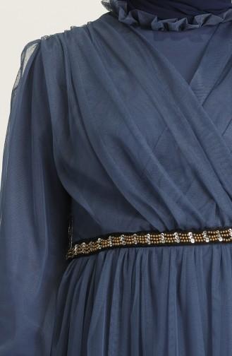 Habillé Hijab Indigo 81776-04