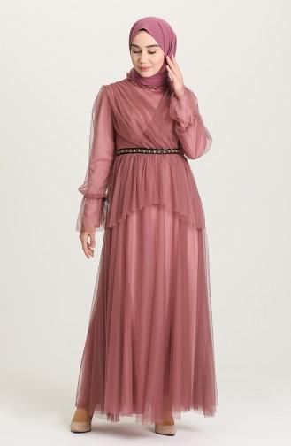 Habillé Hijab Rose Pâle 81776-05