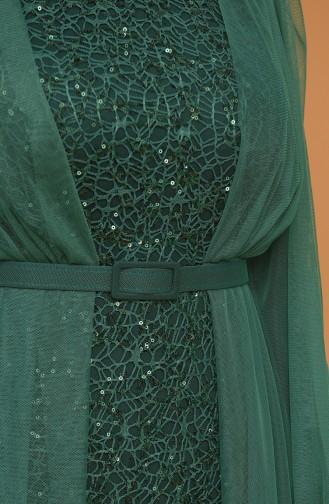 Habillé Hijab Vert Foncé 5383-18