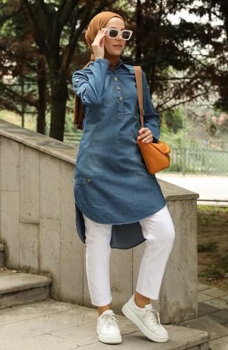 Tunique Bleu Jean 0954-01