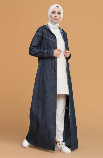 Navy Blue Abaya 9298-01