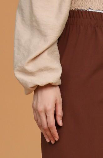 Pantalon Couleur Brun 1983E-04