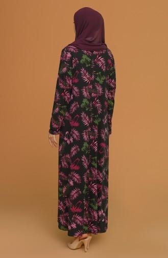 Black Hijab Dress 4552B-04