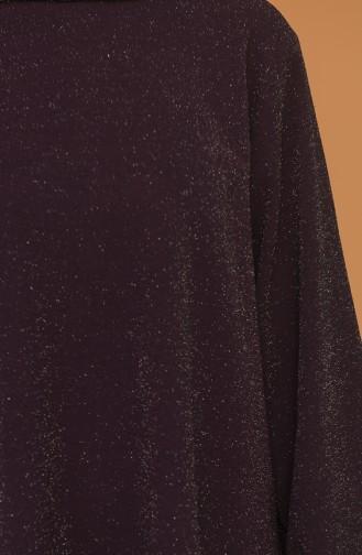 Simli Tunik Pantolon İkili Takım 2396-01 Mor
