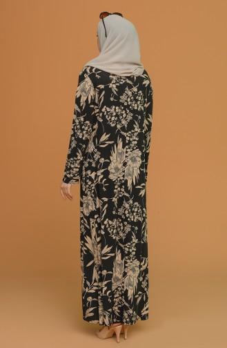 Schwarz Hijap Kleider 4552A-04