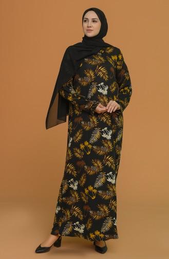 Schwarz Hijap Kleider 4552B-03