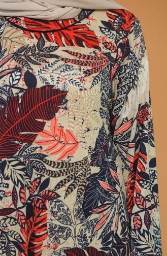 Weinrot Hijap Kleider 4552C-01