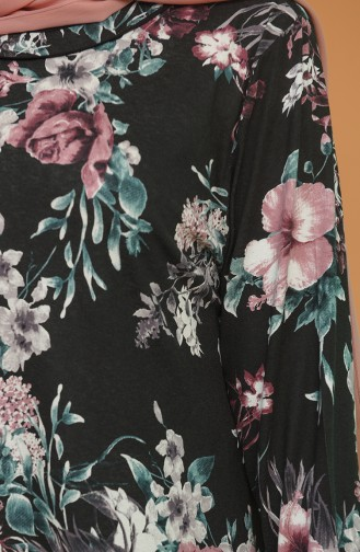 Robe Hijab Noir 4552D-01