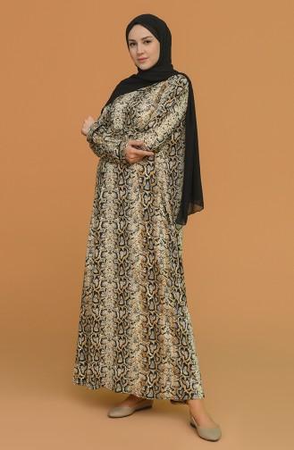 Aylin Büyük Beden T. Viskon Elbise 4552F-01 Camel