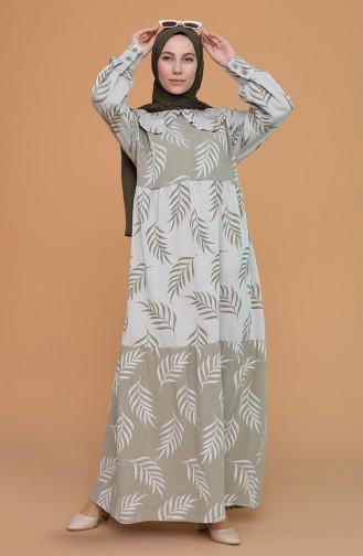 Bebe Yaka Elbise 21Y8379-04 Haki