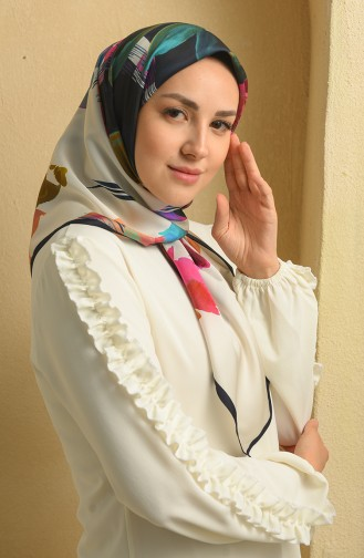 Aker S Twill Eşarp 7900-797-922 Lacivert Turkuaz 7900-797-922