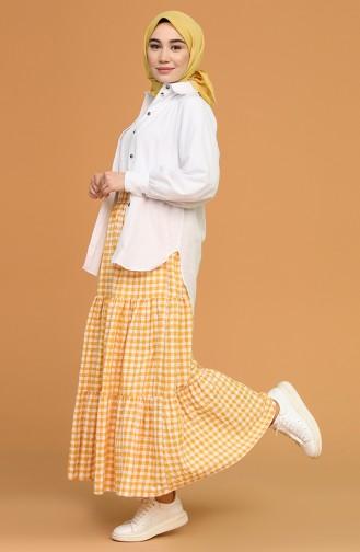 Mustard Skirt 1636-05