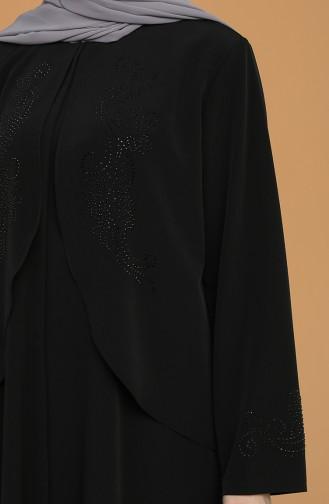 Black Abaya 1504-04