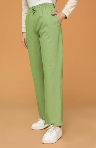 Pistachio Green Broek 3504B-01