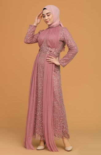 Habillé Hijab Rose Pâle 202021-08