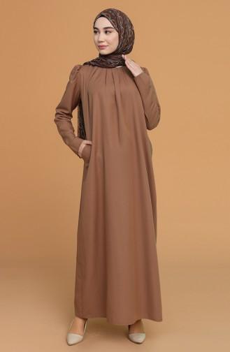 Robe Hijab Camel 3277-07