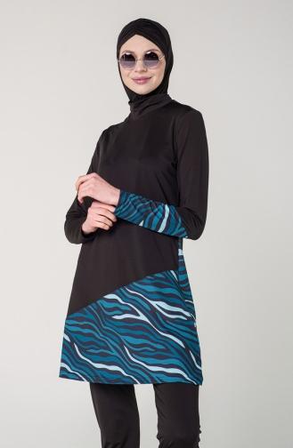 Black Swimsuit Hijab 7080-01