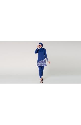 Maillot de Bain Hijab Bleu Marine 7081-01