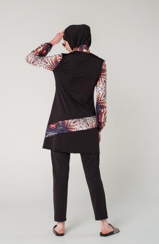 Black Swimsuit Hijab 7130-01