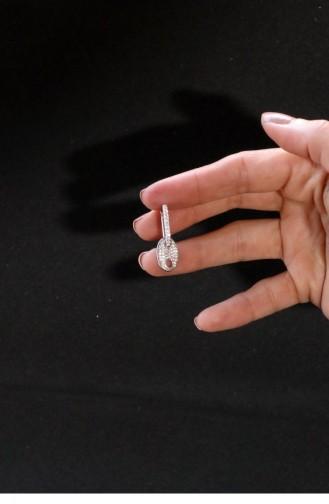 Silver Gray Earrings 0024-3022