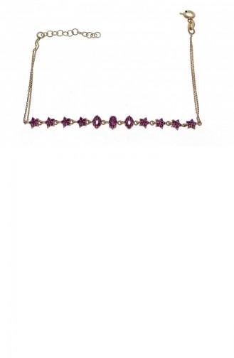 Gümüş Çift Motif Rose Taşlı Kolye Yavruağzı Standart Blo00033 972