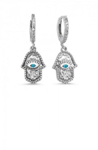Silver Gray Earrings 7684-78