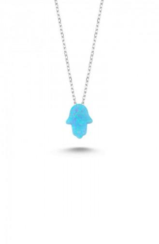 Silver Gray Necklace 11270-1-414