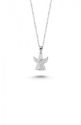 Silver Gray Necklace 12676